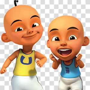 illustration du garçon, Upin & Ipin Les \ 'Copaque Production Animation Wikia, Animation png