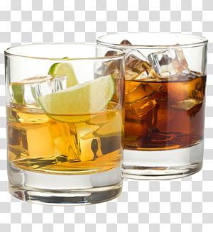 liqueur sur verre, whisky Bourbon Cocktail Boisson distillée Rhum et Coke, whisky png