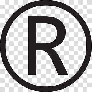 lettre R, symbole de la marque déposée, symbole du droit d'auteur, déposé png