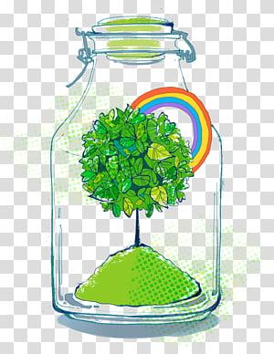 plante à l'intérieur de l'illustration de la bouteille, protection de l'environnement environnement naturel, énergie et protection de l'environnement png