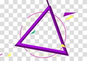 triangle violet, matériau polygonal, éléments tridimensionnels de polygones irréguliers png