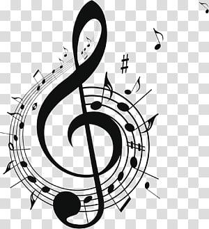 Note de musique Musique libre, design de symbole de musique noire, illustration de note de musique de G clef png
