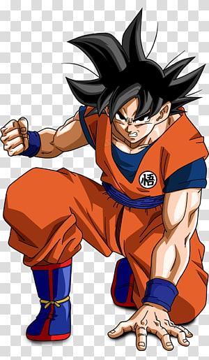 Illustration de Son Goku, Goku Vegeta Goten Trunks Gohan, goku png