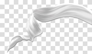 dentelle blanche, lait en poudre crème lait de vache, éléments de lait png