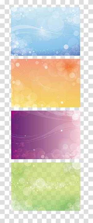 , Fond de carte Business VIP, collage de quatre lumières de bokeh de couleurs assorties png
