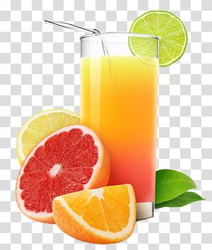 Jus d'orange Jus de pamplemousse Citron, glace à la crème peinte avec dessin animé, jus de fruits, jus de fruits png