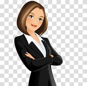 femme, porter, illustration, habillement exécutif, dessin animé, femmes affaires png