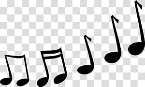 Note de musique Cartoon, Notes de musique png