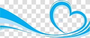 Icône euclidienne, fond d'élément ruban bleu, illustration de cœur bleu et bleu clair png