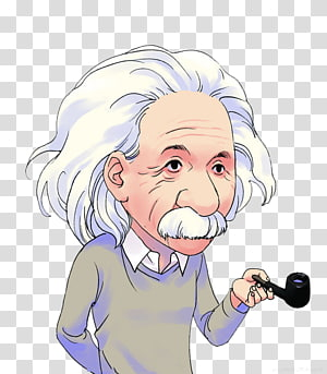 Albert Einstein tenant une illustration de pipe, Le dessin animé Cosmos d'Einstein La scientifique de la théorie de la relativité, Scientifiques d'Einstein png