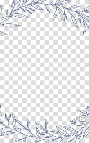 Invitation au mariage Destin Euclidienne, bordures de feuilles simples et élégantes, illustration des feuilles grises png