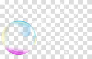 illustration de bulles, bulle de savon, bulle de couleur png