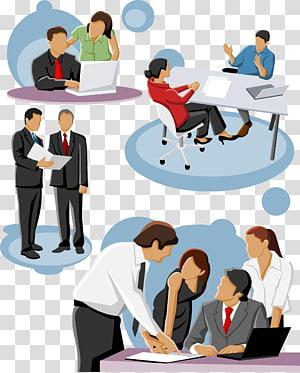 gens qui travaillent en déséquilibre, icône, gens d'affaires qui parlent png