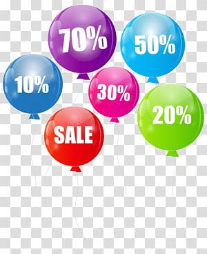 illustration de vente de ballons, Los Angeles Balloon Party Wholesale Retail, Discount Sale Balloons png