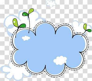 Nuage Euclidien, frontière de nuages de semis, illustration de nuage blanc et bleu png