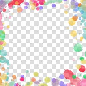 cadre de peinture multicolore, couleur, bordure de bulle colorée png