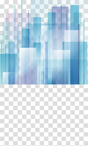 Ville abstraite art abstrait Design graphique, blocs géométriques abstraits dégradés png