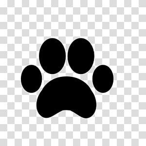 Impression de patte de chien, empreinte png