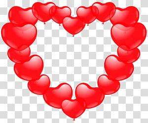 Cœur de ballon, illustration de ballon coeur rouge png