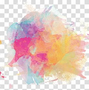 Aquarelle Encre, affiche à l'encre colorée, peinture abstraite multicolore png