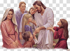 Jésus-Christ parle aux enfants peinture, Bible enfant Jésus Enseignement de Jésus sur les petits enfants Représentation de Jésus, Jésus Pâques png