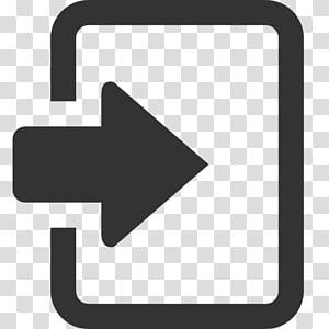 Signalisation de flèche, Icônes d'ordinateur Login Favicon, Icône de connexion noire png