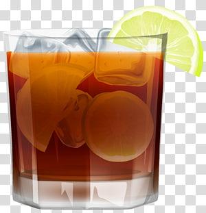 Scotch whisky Boisson distillée Liqueur de bière, Whisky avec glace et citron png