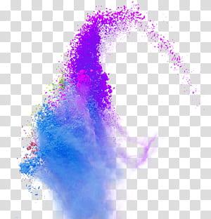 Couleur, fumée de poudre d'éclaboussure de couleur, gros plan d'une explosion de poudre pourpre png
