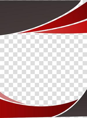 Euclidien, fond de bordure de décoration rouge, logo rouge et noir png