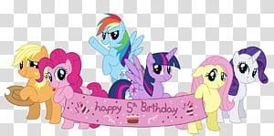 Illustration de mon petit poney, mon petit poney Pinkie Pie anniversaire cartes de voeux et des cartes de correspondance, mon petit poney png