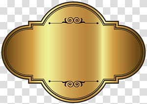 Étiquette, modèle d'étiquette de luxe doré, étiquette de fond marron png
