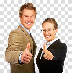 sourire, homme femme, pouce, haut, homme affaires, partenaire, partenariat, plan affaires, affaires png