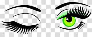 illustration des yeux clignotants, graphisme évolutif des yeux Wink, yeux peints à la main png