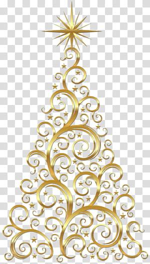 Arbre de Noël doré, arbre de Noël doré png