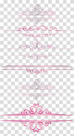 Ligne de démarcation européenne, colonnes de lignes de séparation, lignes de démarcation roses png
