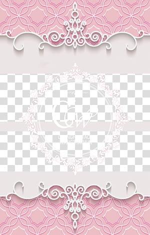 Papier Arts visuels motif rose, documents de base pour mariage rose romantique, logo Changhaotao & Wangzhaojun png
