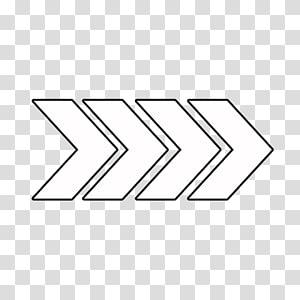 Icônes d'ordinateur de bureau, flèche droite, quatre graphiques de flèches blanches png