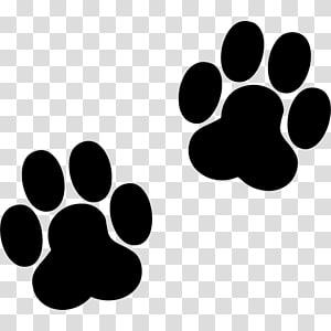empreintes de pattes, empreinte de chien de patte d'impression chat, chien png