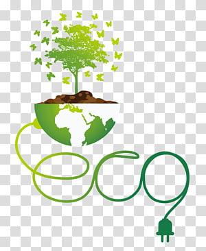 illustration d'arbre vert, protection de l'environnement environnement naturel euclidienne, arbres de la terre verte png