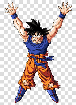 Dragon Ball Son Goku portant une balle d'esprit, Goku Gohan Vegeta Genkidama Une boule de dragon, goku png