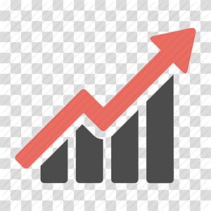 Orange et flèche noire vers le haut, infographie graphique d'icônes d'ordinateur, croissance d'icône gratuite png