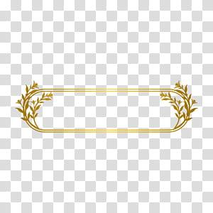 Gold Line, bordure Gold Line, cadre floral oblong png
