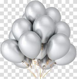 Balloon Party Couleur métallique Anniversaire Argent, Ballons Argentés, Ballons Argentés png