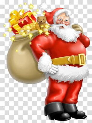 Père Noël père Noël, père Noël avec des cadeaux, illustration du père Noël png