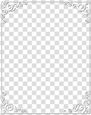 Modèle d'angle de point noir et blanc, cadre de bordure blanche png