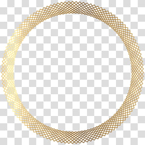 formats de fichier Compression sans perte, bordure arrondie déco dorée, illustration de bague ronde de couleur dorée png
