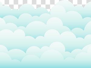 Ciel nuage dessinant bleu, beaux nuages, nuages blancs et verts png