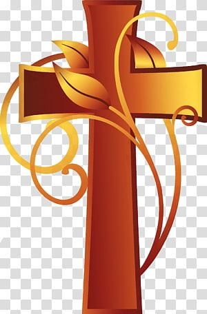 croix avec feuille, religion chrétienne christianisme, cruz png