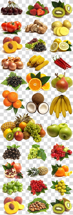 Une grande collection de fruits et légumes, assortiment de légumes png
