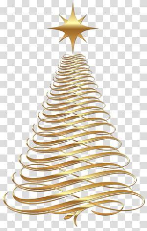 Arbre de Noël, jour de Noël, grand arbre de Noël en or, illustration de l'arbre de Noël png